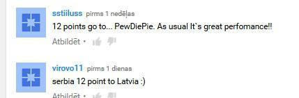 Autors: rencisss PewDiePie šovakar Eirovīzijā pārstāvēs Latviju!?