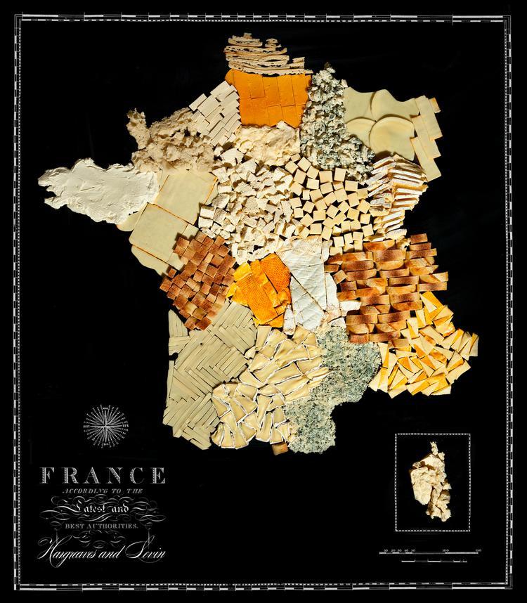 Francija  Siers amp maize Autors: Sarius Viņi pārvērta ikoniskus ēdienus valstu un kontinentu kartēs.