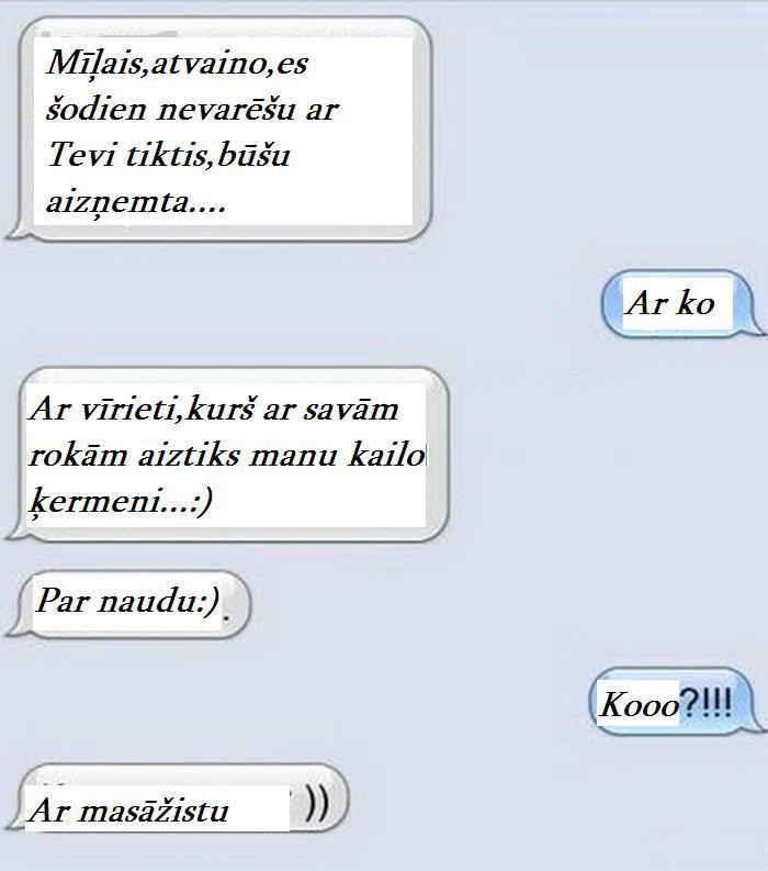 Autors: Altenzo SMS bez pērlēm