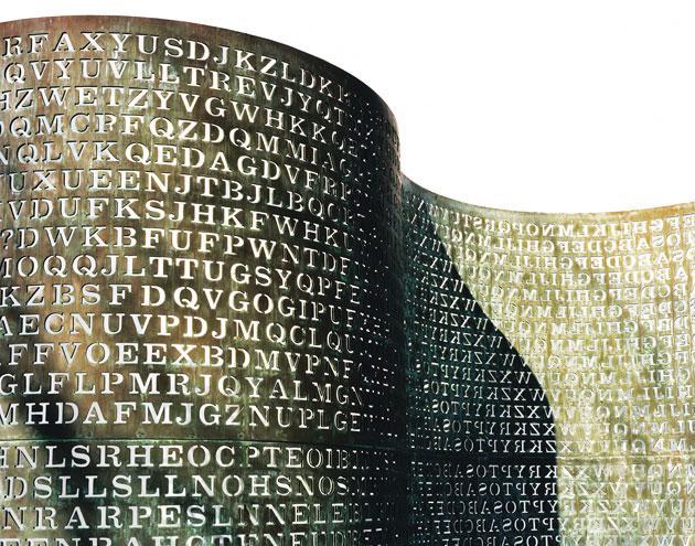 KryptosKyrptos ir skulptūra... Autors: Bitchere 10 Neatrisinātas mistērijas, kuras joprojām ir neatrisinātas