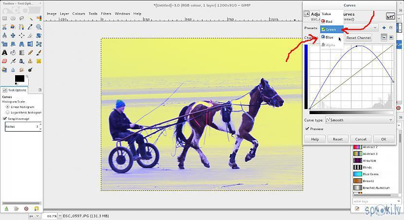 Autors: Strāvonis GIMP, bildes izgaismošana