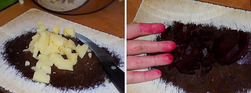 Sagriežam bietes un kartupeļus Autors: HELIOFOBIJA Kaut kas līdzīgs vinegretam