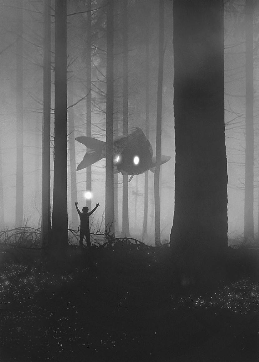 Nekad neej meža dziļajās daļās... Autors: KALENS Poļu mākslinieks ilustrē savu cīņu ar depresiju caur misterioziem zīmējumiem