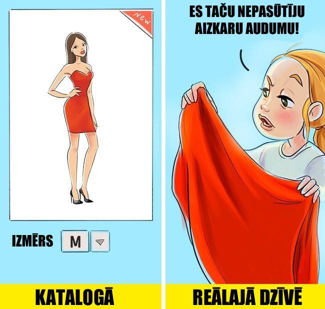 Iepirkscaronanās internetā ... Autors: matilde 13 atklātas ilustrācijas par to, kāda ir dzīve meitenei ar lielām krūtīm