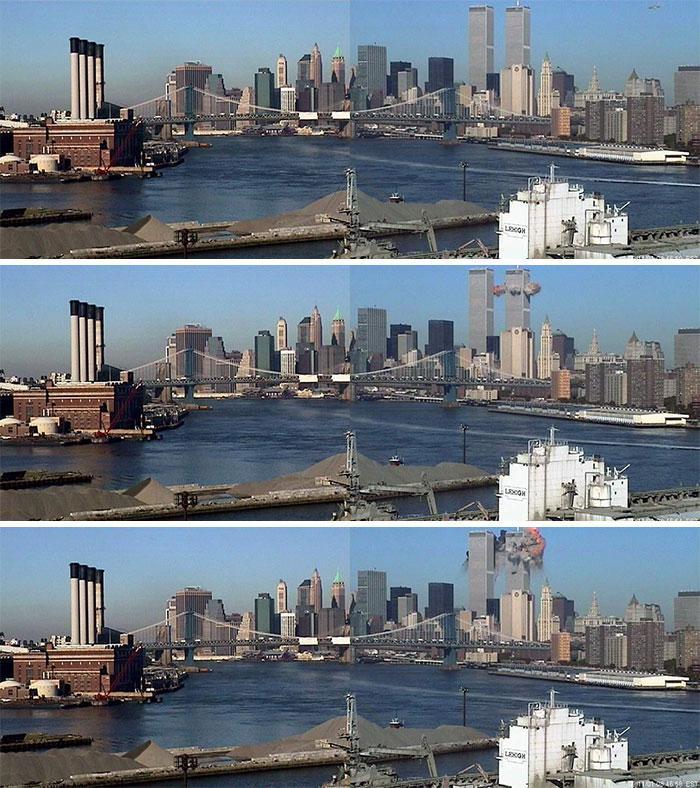 Sekunde pirms pirmās... Autors: slepkavnieciskais Īpaši 9/11 attēli, kurus, iespējams, nebūsi redzējis.