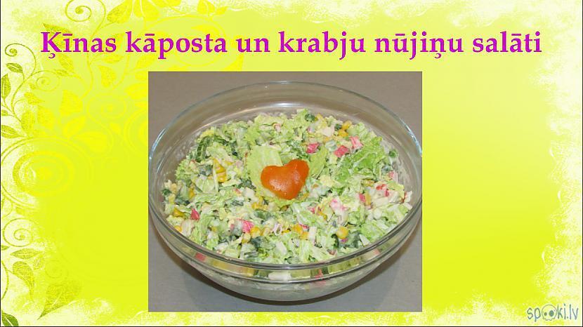 Autors: aniii7 Ķīnas kāposta un krabju nūjiņu salātu recepte