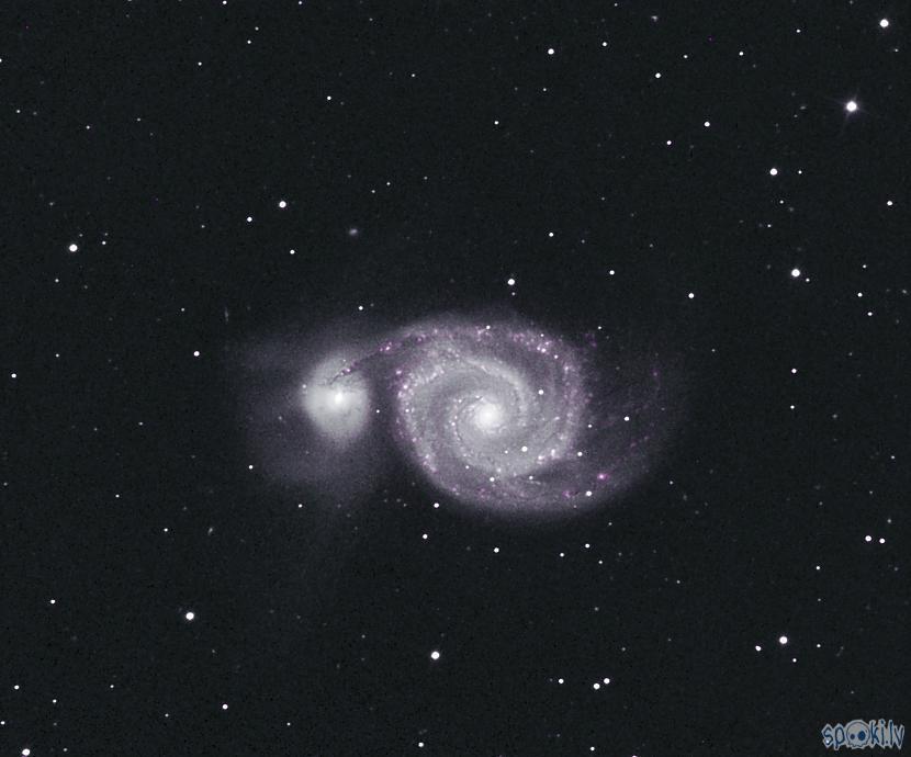 Atvara galaktika ja nemaldos... Autors: peleks Astrofotografēšana