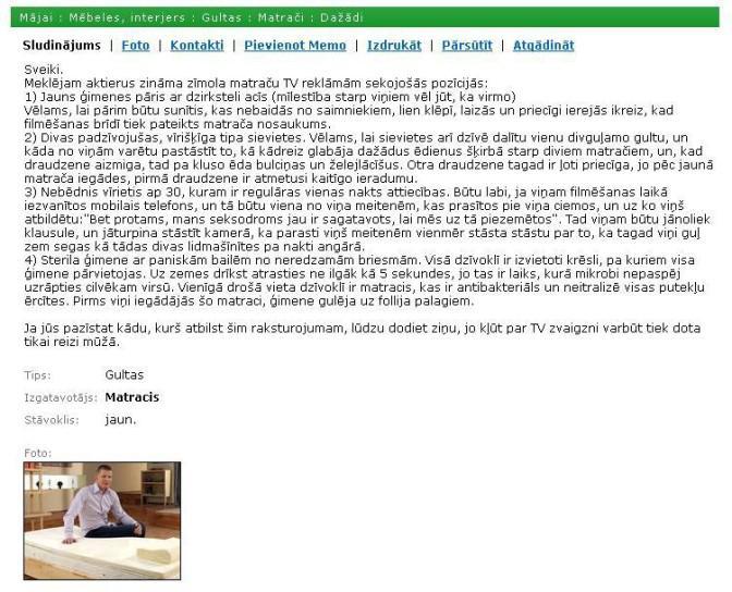 Tad redz kā top tās reklāmas... Autors: matilde Desmit EPISKĀKIE latviešu sludinājumi no SS.COM