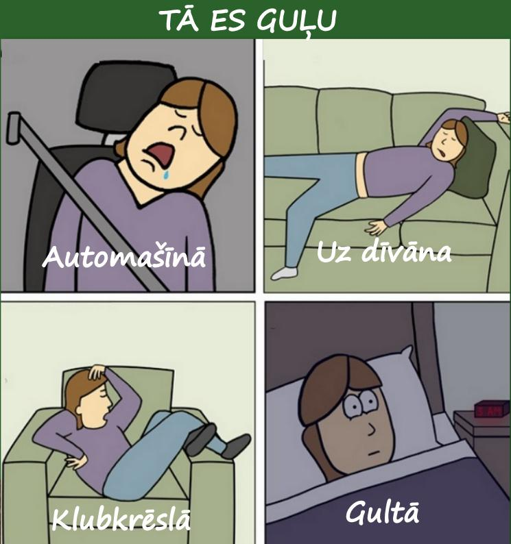 Autors: rasiks Par gulēšanu
