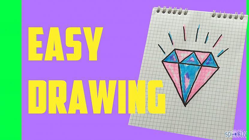 Autors: Halynka Georgiatx How to draw a cute diamond