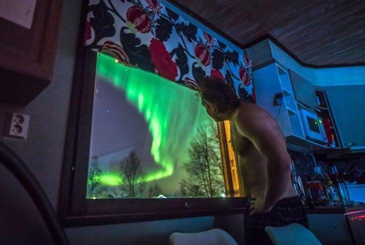 Skats pa logu Somijā Tomēr... Autors: Lestets Neticami, ka šīs 30 fotogrāfijas ir uzņemtas tepat uz Zemes
