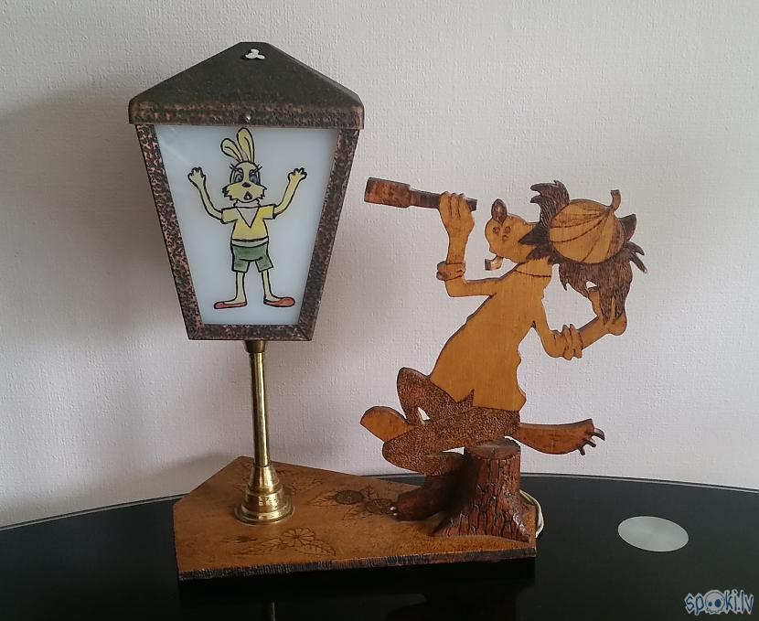 "Autors: pyrathe Retro lampa ""Ну, погоди!"""