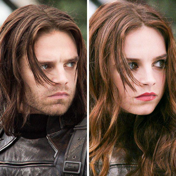 Ziemas kareivis Autors: matilde Lūk, kā izskatītos slaveni supervaroņi, ja viņi būtu sievietes (18+ foto)