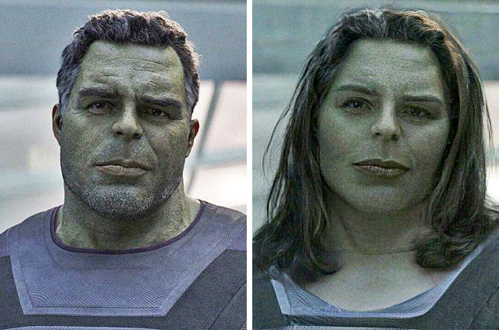 Halks Autors: matilde Lūk, kā izskatītos slaveni supervaroņi, ja viņi būtu sievietes (18+ foto)