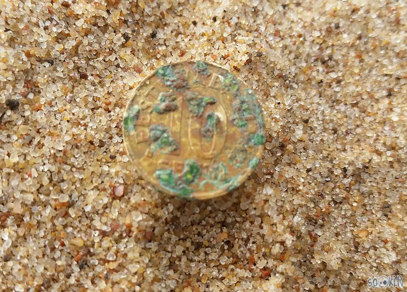 Igaunijas 10 senti Autors: pyrathe Ar metāla detektoru pa pludmali 2020 (oktobris)