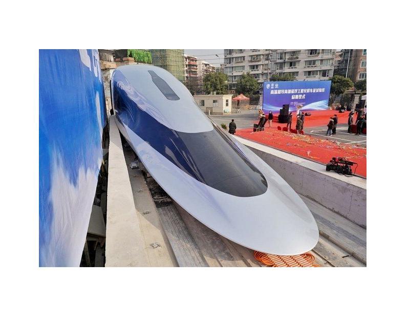 Autors: Zibenzellis69 Ķīna sāk izmēģināt supervilcienu, kam par ritošo daļu kalpo megnētiskie spilveni