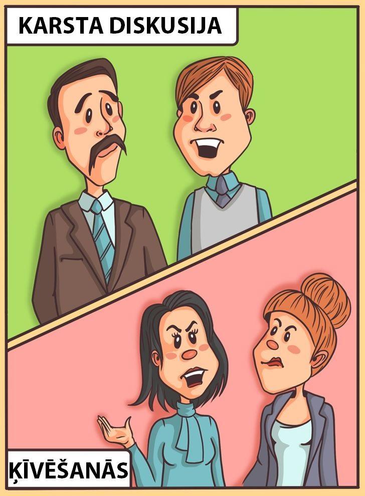 Vīriescaronu diskusijas tiek... Autors: Lestets 10 dubulto standartu piemēri, ar kuriem mēs dzīvojam