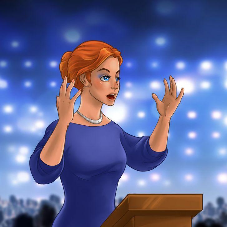 Roku signāli uzstāscaronanās... Autors: Lestets 8 svarīgi roku žesti, ko katram vajadzētu zināt