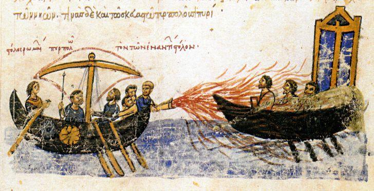 Grieķu ugunsTas bija... Autors: Lestets 6 neticami tehnoloģiskie sasniegumi, kas ir zuduši laika gaitā