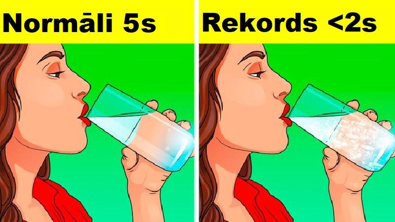 Izdzert puslitru ūdens  175 s... Autors: Lestets 14 rekordi, ko vari pārspēt arī bez trenēšanās