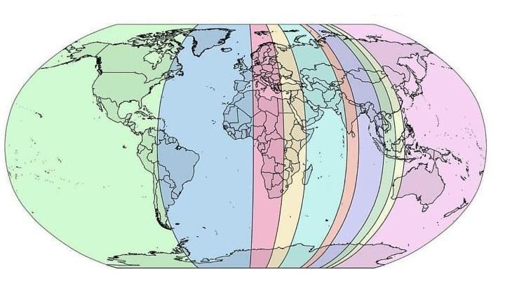 Katrā daļā ir 10 no pasaules... Autors: Lestets 20 neparastas kartes, kas var mainīt perspektīvu