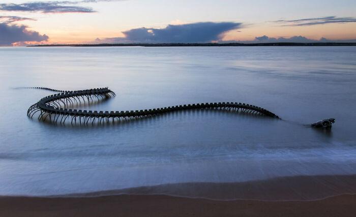 Jūras čūska pie... Autors: Lestets Cilvēka veidoti zemūdens objekti, kas liks bailēs peldēt prom