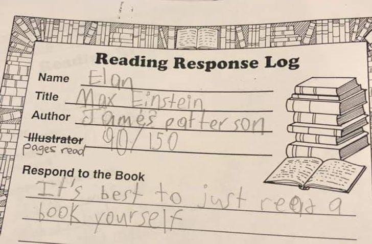 Vārds ElansGrāmatas nosaukums... Autors: The Diāna 20 reizes, kad bērnu izdoma mājasdarbu pildīšanā bija patiešām smieklīga