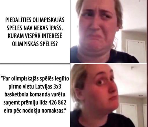 Lasi rakstu scaroneit Latvijas... Autors: matilde Mūsu puiši izcīna pirmo olimpisko zeltu 3x3 basketbolā. Tam par godu 9 memītes