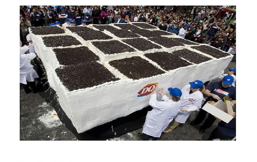 Autors: Zibenzellis69 Lielākā saldējuma kūka pasaulē (video)
