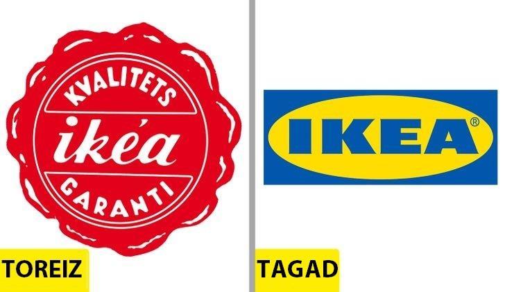 IKEASakotnējais logo tika jau... Autors: Lestets Kā pēdējo 50 gadu laikā ir mainījušies slavenu brendu logo?